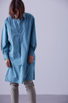 Shirt percale in a new green color