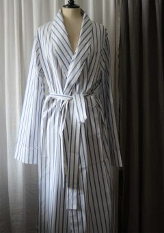 Morning Gown in striped cotton