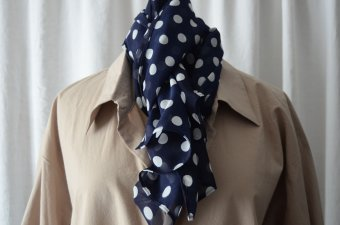 scarf dotted viscose