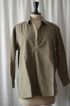 shirt cotton percale olive