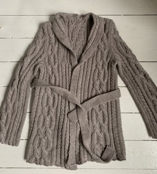 Braided knitted cardigan