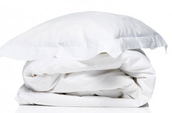 Duvet cover+pillowcase white cotton