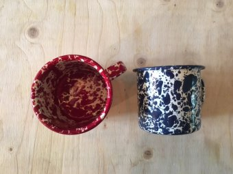 Marbled Enamel Mug blue
