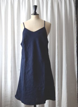 nightshirt linen navy